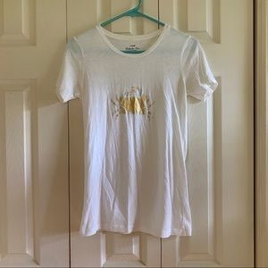 J Crew gold and silver crab t shirt